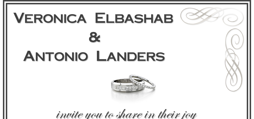 Elbashab-Landers: Wedding Invitation